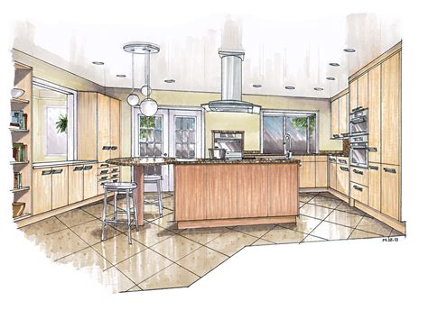 kitchen design sketch recent renderings mick ricereto interior product design