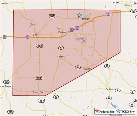 eastland texas map superfund in eastland county tceq www tceq texas gov