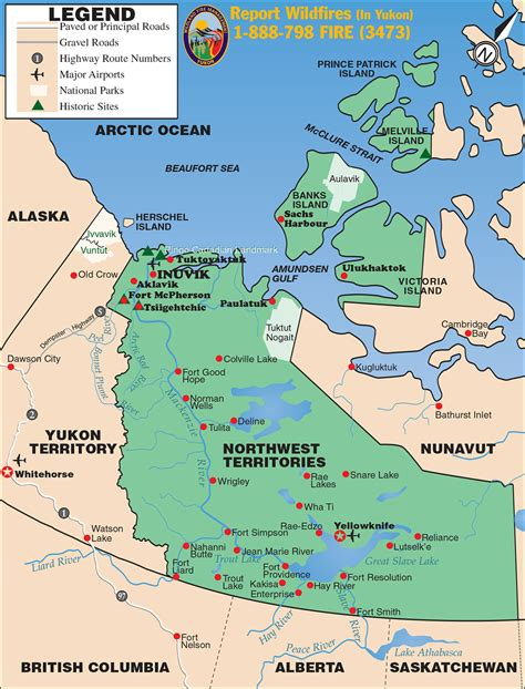 yukon map maps of inuvik yukon territory alaska northern
