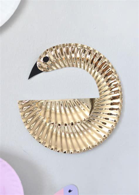 Handmade Plate - paper plate birds handmade