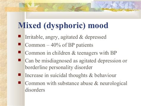 mood swings suicidal thoughts presentation on bipolar