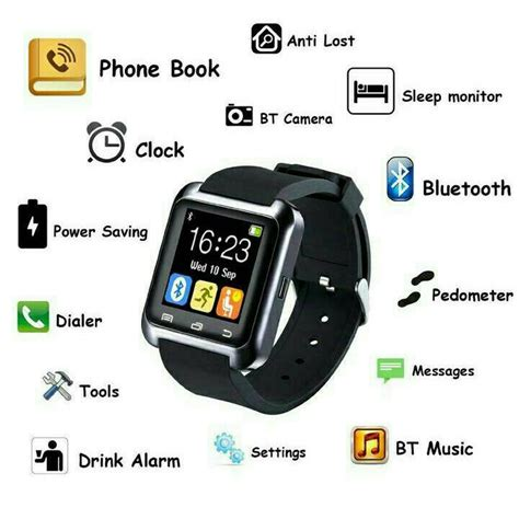 Jam Tangan Gucci U8 3 smartwatch u8 jam tangan dengan fungsi telepon sms elevenia