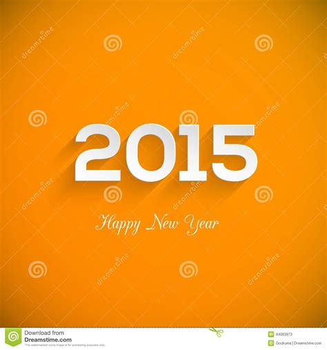 new year card template 2015 happy new year 2015 creative greeting card design stock