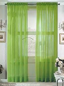 Green Sheer Curtains 2 Solid Lime Green Sheer Curtains Fully Stitched Panels Window Drape 54 Quot X 84