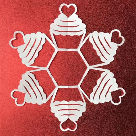 printable heart snowflakes 17 best images about paper snowflake patterns on pinterest