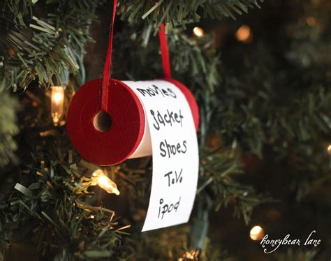 make a christmas list ornament honeybear lane