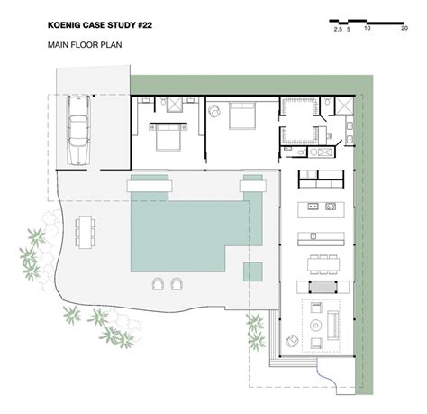 case study houses floor plans stahl house case study house 22 architect classics