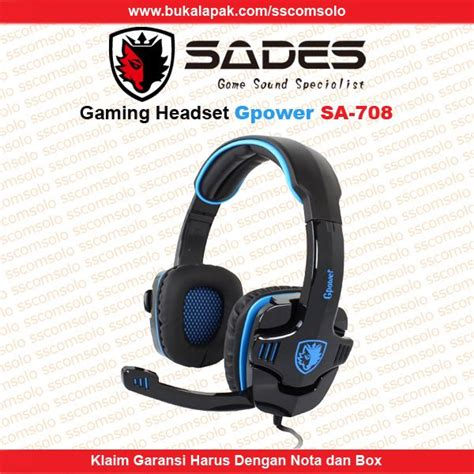 Headset Sades G Power jual sades gaming headset gpower sa 708 di lapak sscomsolo sscomsolo