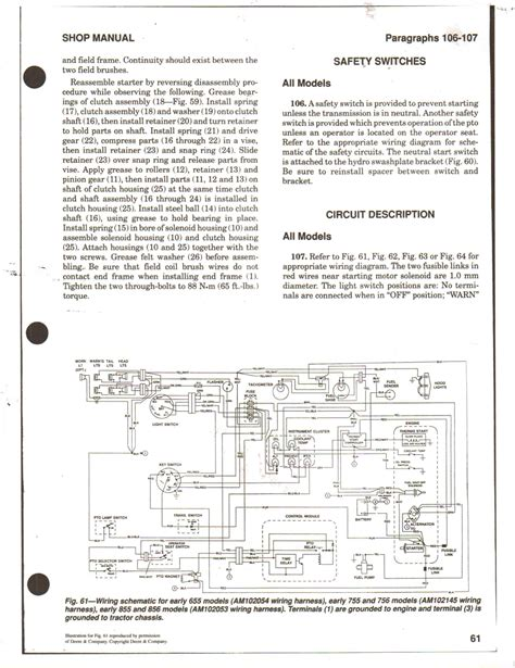 deere 855 wiring schematic free engine image for user manual