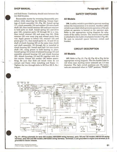 deere 855 wiring schematic free engine image