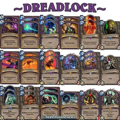 deck hearthstone hearthstone deck warlock dreadsteed hearthstone news