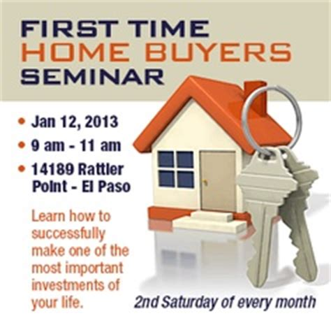 time home buyer seminar real estate