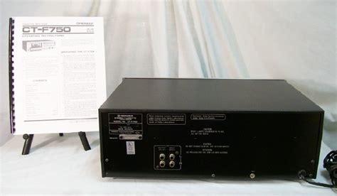 pioneer tv deck pioneer cassette deck model ct f750