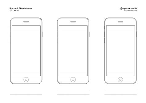 Iphone Wireframe Template by Iphone Wireframe Template Apple Sketch Ios Iphone