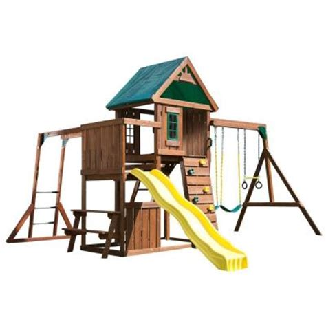 home depot swing set kits swing n slide playsets chesapeake wood complete playset ws