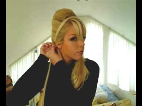 quick  inspired hairband bouffant   ponytail