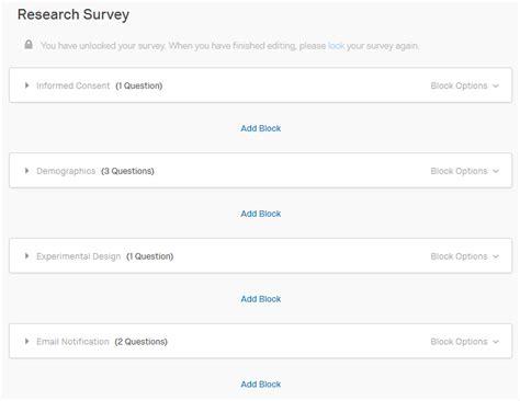 Informed Consent Qualtrics Tutorials Libguides At Kent State University Qualtrics Survey Templates