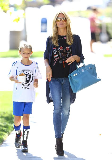 Heidi Klum Handbags At Monsoon Accessorize by Heidi Klum Takes To Pinkberry With A Birkin On