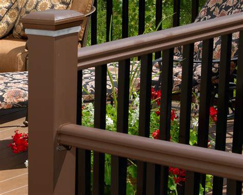 radiancerail express composite deck railing timbertech