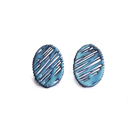 bentley turquoise turquoise enamel studs contemporary earrings by