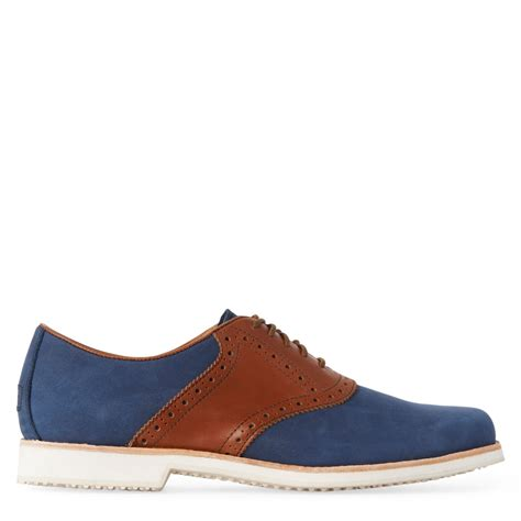 oxford shoes blue polo ralph lars saddle oxford shoes in blue for