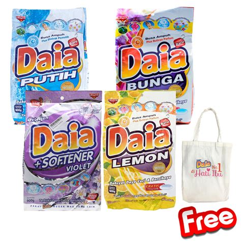 Daia 900gr by 1 1 Daia Detergent All Variant 900 Gr Free Tote Bag