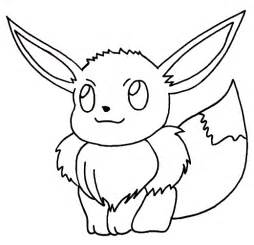 pokemon eevee free coloring pages on art coloring pages