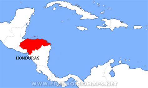 honduras world map where is honduras located on the world map