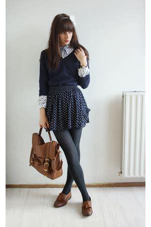 Mini Dress Sweater Chic Like Midi Korean Style primark bags topshop shoes navy primark
