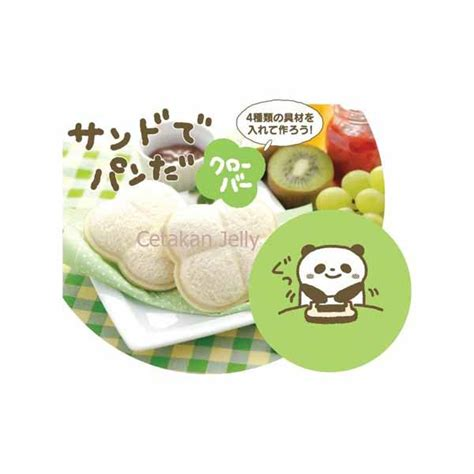 Cetakan Bento Roti cetakan roti bento clover bread sandwich mould cetakan