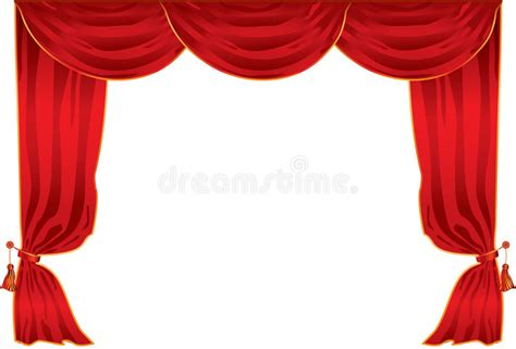 teatro tende a strisce curtain theatre stock vector illustration of