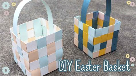How To Make A Paper Basket - how to make an easter basket