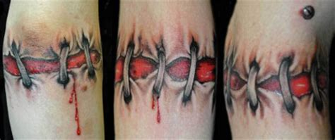 tattoo wound pictures tonystyles elbow scar color tattoo stitches wounds tonystyles