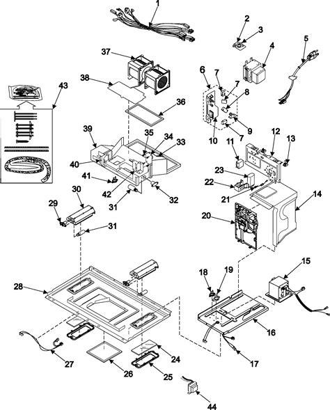 samsung microwave parts diagram i a winnebago brave 2002 w samsung microwave oven
