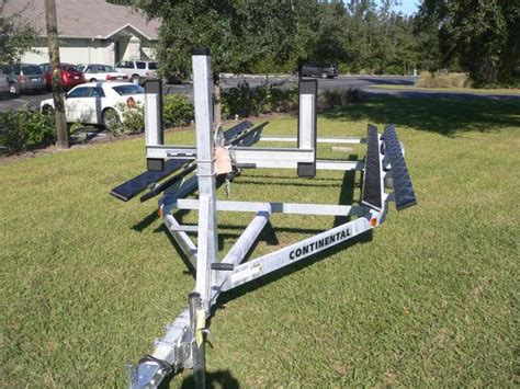 pontoon boat trailer winch stand with steps continental trailers ctp2435b pontoon boat trailer