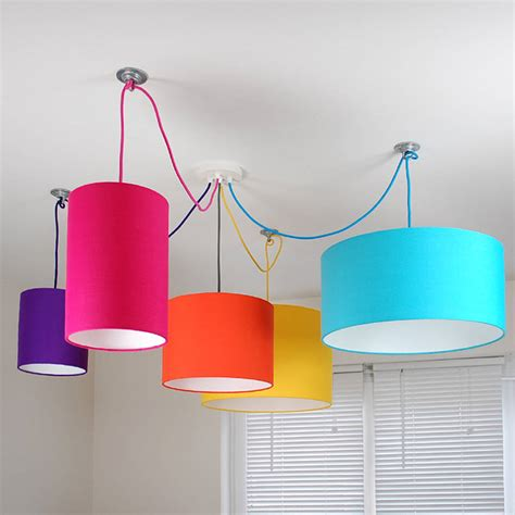 Colorful Light Fixtures Plain Bright Coloured Lshade 25 Colours By Quirk Notonthehighstreet