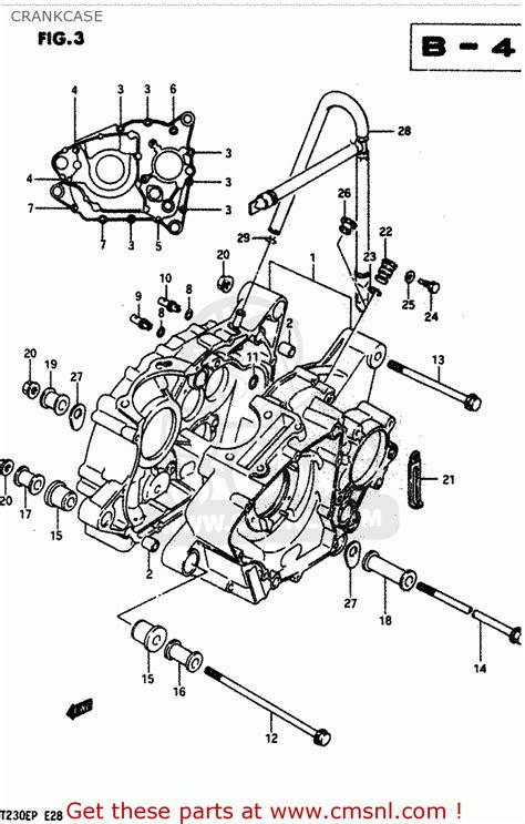 Suzuki 230 Quadsport Parts Suzuki 230 Engine Diagram Suzuki Get Free Image About