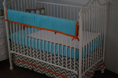 Orange And Blue Crib Bedding Blue Orange And Grey Crib Bedding Aqua Blue In The Nursery Pinte