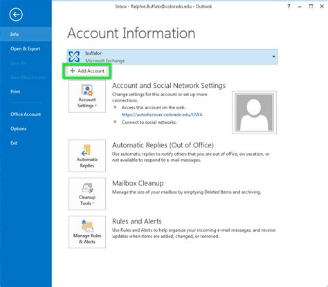 Account Technology by Gmail Configure Outlook For Windows Office Of Information Technology