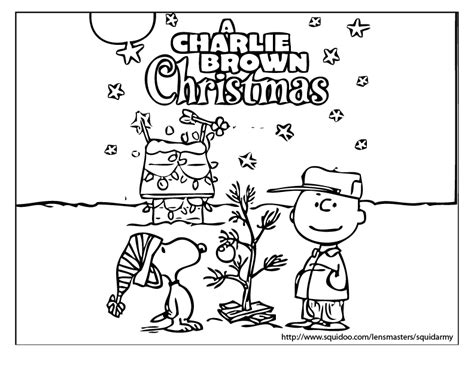 Merry Christmas Charlie Brown Coloring Pages | christmas colloring pages squid army