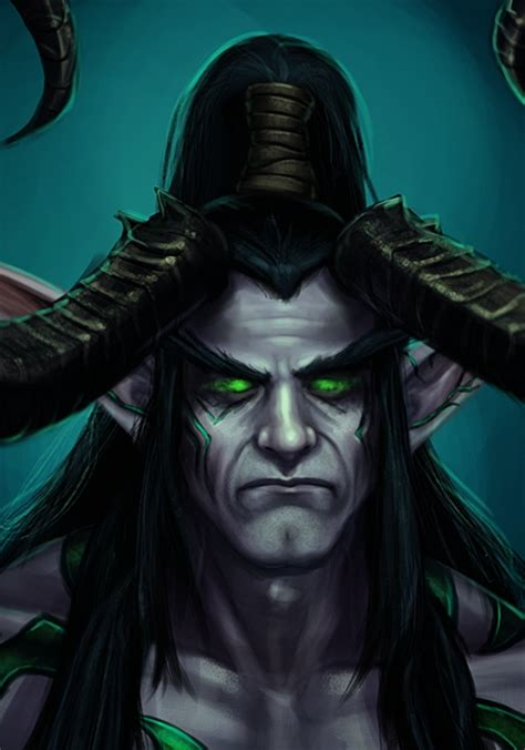 world of warcraft illidan 1785652419 illidan unmasked portrait by ladyofjustice on