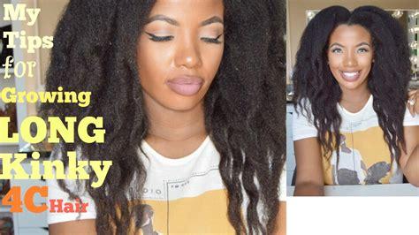 how i grew my 4c hair long secret my tips for growing long 4c kinky natural hair waist