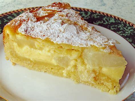kuchen eigelbverwertung birnenkuchen mit vanilleguss rezept mit bild