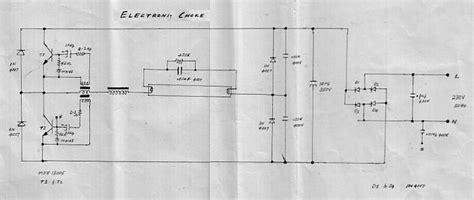 circuit diagram of electronic choke electronic choke and hid l ballast schematics