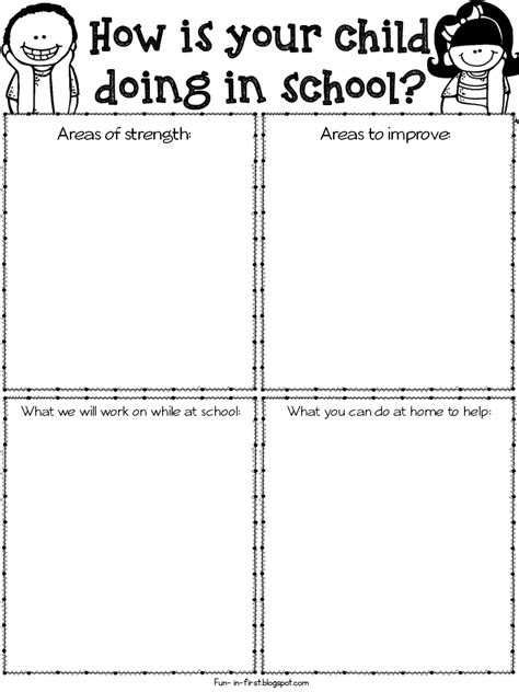 9 parent teacher conference forms free sample example format