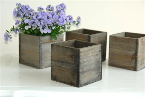 wooden box planters wood box wood boxes woodland planter flower rustic by aniamelisa