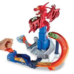 Amazon.com: Hot Wheels Dragon Blast Playset: Toys & Games
