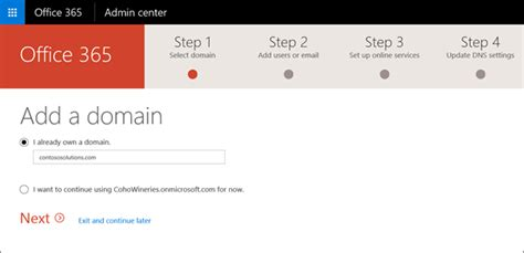 Office 365 Mail Own Domain Add Your Domain And Users To Office 365 Operated By