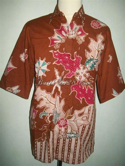 Kemeja Batik Tulis Indigo 075 harga murah kemeja batik tulis warna coklat ld075 l