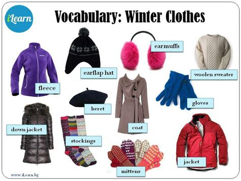 winter clothes 11 best images about winter clothing on vocabulary words the winter and